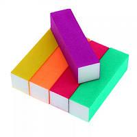 Баф четырехсторонний для ногтей Яркие цвета