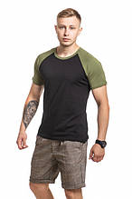 Мужские футболки двухцветные, мужская футболка плотная