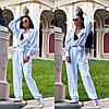 Женский стильный костюм брюки и рубашка