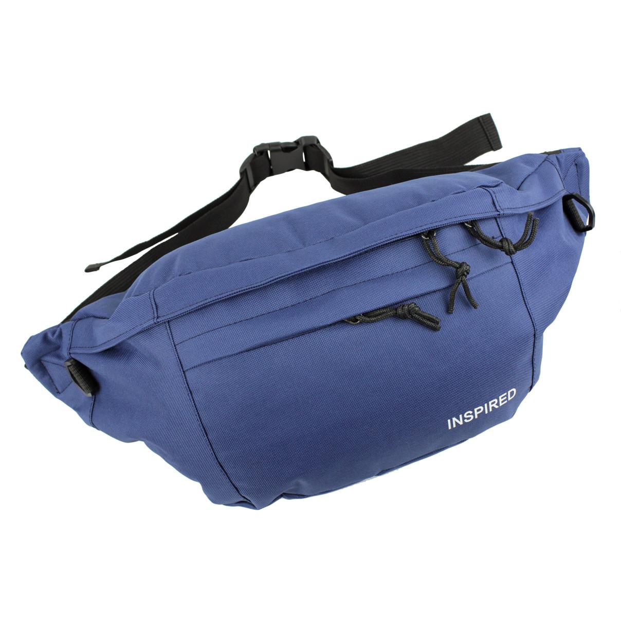 Поясная сумка-бананка текстильная унисекс INSPIRED Синяя