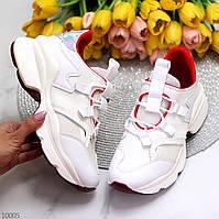 Крутые белые женские кроссовки сникерсы с яркими красными и голографическим вставками 37-24  39-25,5