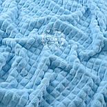 """Два лоскута плюша """"Пирамидки"""", голубого цвета (М-57), размер 50*55, 50*100 см (есть брак), фото 3"""