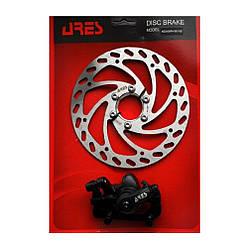 Дисковые тормоза ARES MDA08+SE16B IS F180/R160 мм ротор 160 мм с гайкой