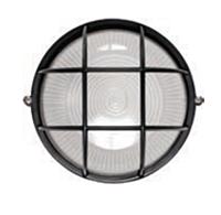 Светильник уличный Lumen круг 100W  IP54 черный с решеткой