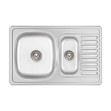 Кухонна мийка Lidz 7850 dekor 0,8 мм (LIDZ7850MDEC)