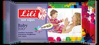 """Салфетки для детей """"Lili"""" с экстрактом ромашки 100 шт./уп."""