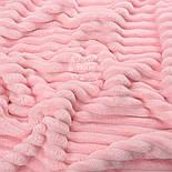 """Клаптик плюшу в смужку """"Stripes"""" світло-рожевого кольору, розмір 50 * 160 см, фото 2"""