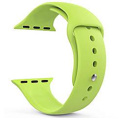 Ремешок для часов силиконовый, для смарт часов Apple Watch, аналогов Apple Watch 22 мм. Салатовый