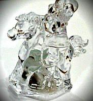 Светильник LED COLORFUL HORSE / Лошадка с Дедом Морозом, фото 1