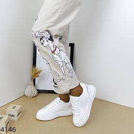 Кеды женские белые 4146