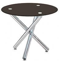 Круглый обеденный стол Дезире черный