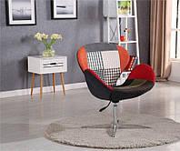 Кресло Сван основание металл ткань пэчворк