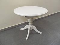 Деревянный раскладной стол Анжелика, белый