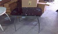 Стол стеклянный раскладной Джес (ТВ086), рубин
