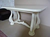Деревянный раскладной стол Лира, белый