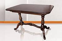 Деревянный стол Дуэт, темный орех