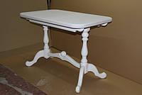 Деревянный раскладной стол Дуэт, белый