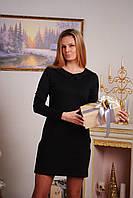 Платье женское короткое с воротником черное, фото 1