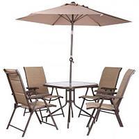 Комплект садовой мебели Playa коричневый/бежевый (AMF-ТМ)