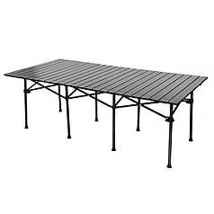 Стіл складаний Lesko S5436 туристичний портативний для кемпінгу пікніка наметів 214*70*70 см