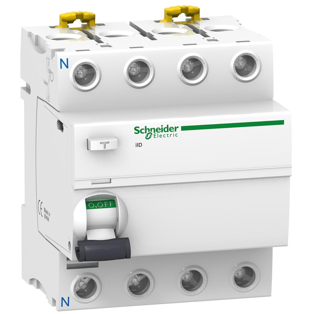 Дифавтомат Schneider Electric Acti 9 iID 4p 25A 6kA 30mA C A9R41425