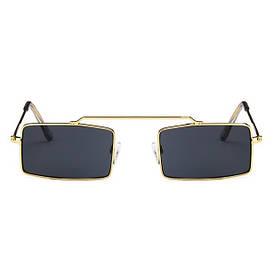 Солнцезащитные очки в ретро стиле (арт. 17101) Золотистый