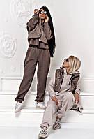 Женский стильный спортивный костюм-тройка с жилетом, фото 1