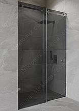 Душова двері розсувні кабіна (графіт - сіра) 2100*1400