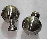 Карниз для штор КАЛІСТО подвійний 25+19 мм 2.4 м Колір Сталь, фото 2
