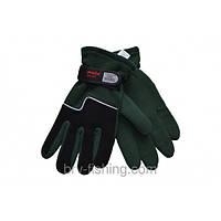 Перчатки Зимние на двойном флиссе(Зеленые)