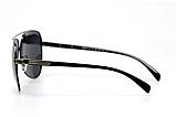 Солнцезащитные очки авиаторы мужские с поляризацией и металлической оправой. Мужские очки солнцезащитные, фото 3