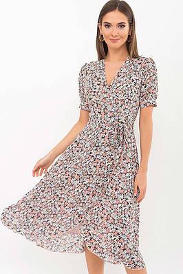 Романтичное шифоновое платье на запах