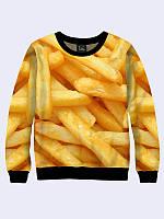 Світшот жіночий 3D Картопля фрі/Свитшот ФРИ