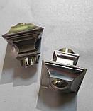 Карниз для штор металевий БОРДЖЕЗА подвійний 25+19 мм 1.8 м Колір Сталь, фото 2