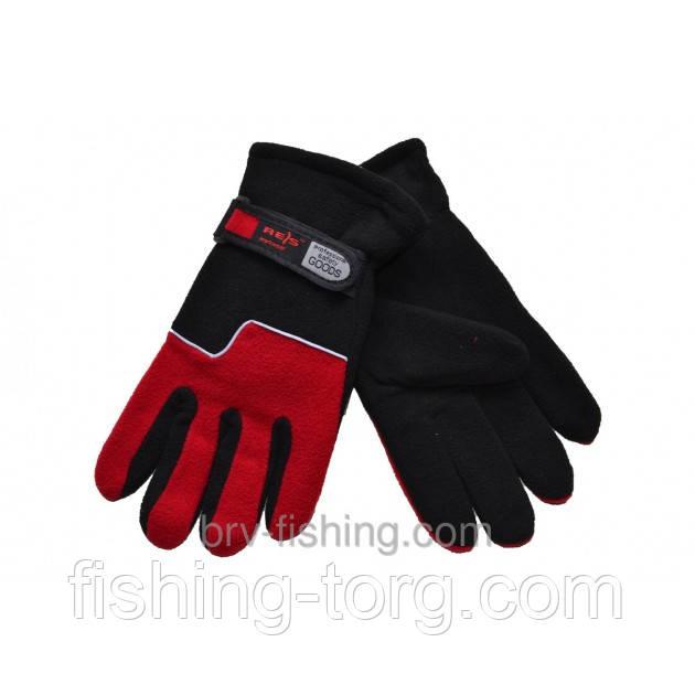 Перчатки Зимние на двойном флисе (Красные)