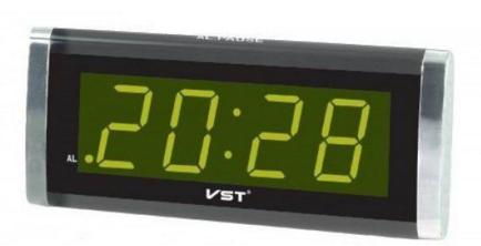 277ad3fa VST 730-2 выполняют множество полезных функций. В данной модели кнопка  отключения будильника расположена в нижней части корпуса, а питание  осуществляется ...