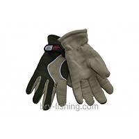 Перчатки Зимние на двойном флисе (Оливковые)