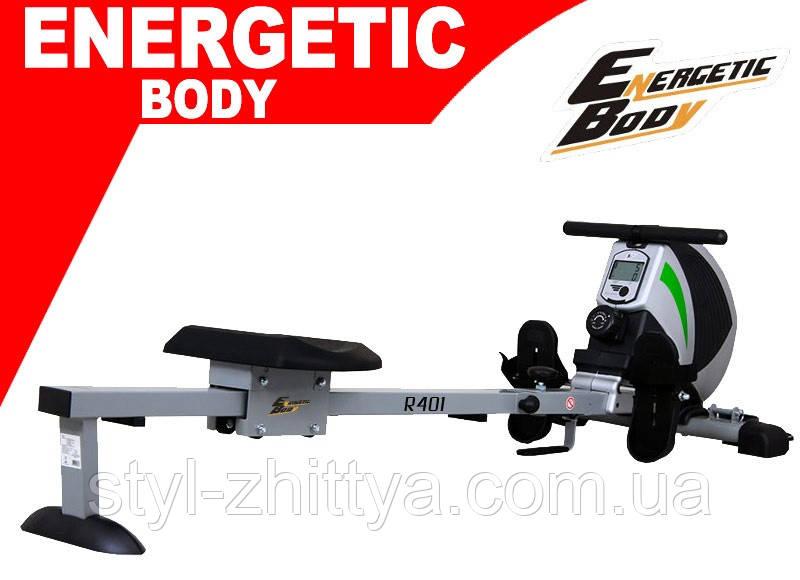Гребний магнітний тренажер  Energetic Body до 120 кг