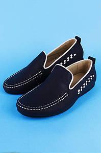 Туфли подростковые мальчик темно-синие Calorie 122338P