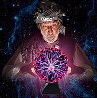 Плазменный шар — Plasma ball, 22 см, детский светильник, фото 1