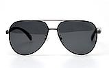 Авиаторы черные очки солнечные с поляризацией прозрачные . Солнцезащитные очки черные мужские поляризационные, фото 2