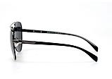 Авиаторы черные очки солнечные с поляризацией прозрачные . Солнцезащитные очки черные мужские поляризационные, фото 3