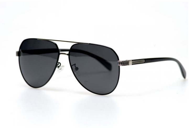 Авиаторы черные очки солнечные с поляризацией прозрачные . Солнцезащитные очки черные мужские поляризационные