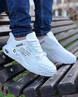 Мужские кроссовки. Белые. На ногу 25 см