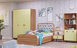 Комод, дитяча кімната Колібрі,горіх марино/жасминовий, Світ меблів, фото 7