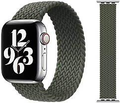 Ремешок для часов Apple Watch 42/44 мм, Solo Loop для Apple Watch. Плетеный монобраслет. Зеленый