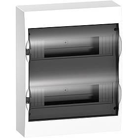 Щит пластиковий навісний димчасті двері 2 ряди 24 модуля+2
