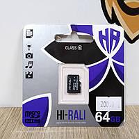 Карта памяти Hi-Rali 64GB Class 10