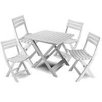 Набор садовой мебели Camping (4 стула) производство Италия цвет белый, фото 1