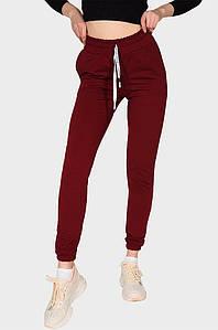 Спортивные штаны женские вишневые AAA 131593P